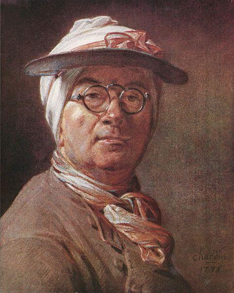 Chardin in un noto autoritratto della maturità