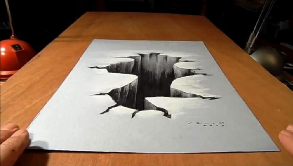 Come disegnare un finto e profondo buco su un foglio o for Disegni di 2 piani