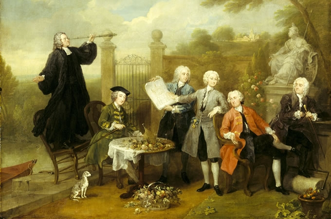 HOGARTH - Ritratto di gruppo con Lord John Hervey, circa 1738-1740