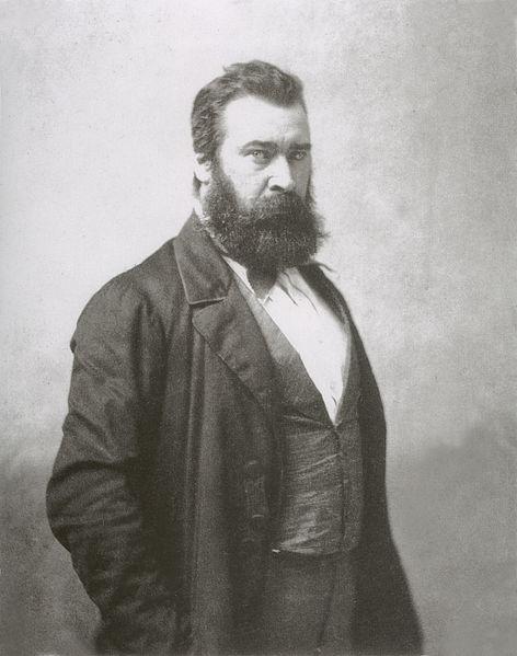Jean-François Millet ritratto da Nadar, il noto fotografo parigino che ospitò, nel suo studio, la prima mostra degli impressionisti