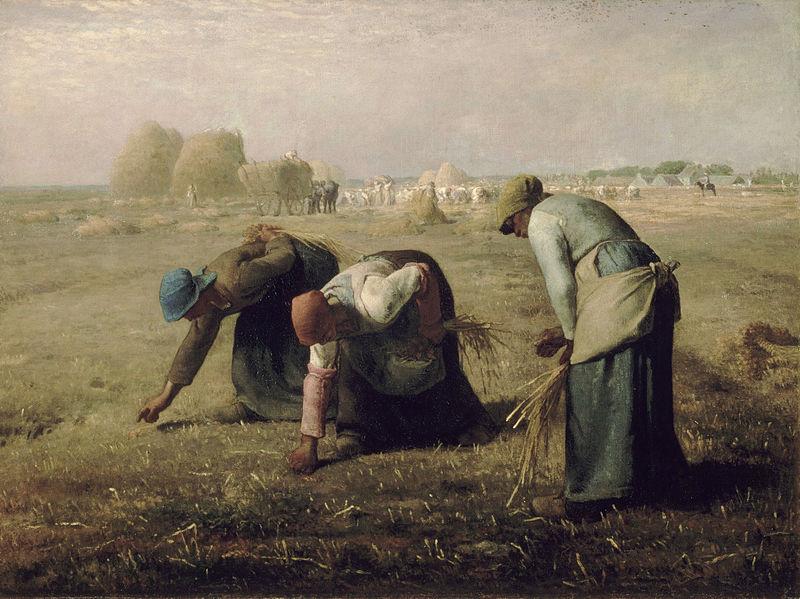 Jean-François Millet, Le spigolatrici, 1857-1859, olio su tela, cm. 55,5x66. Parigi, Museo d'Orsay
