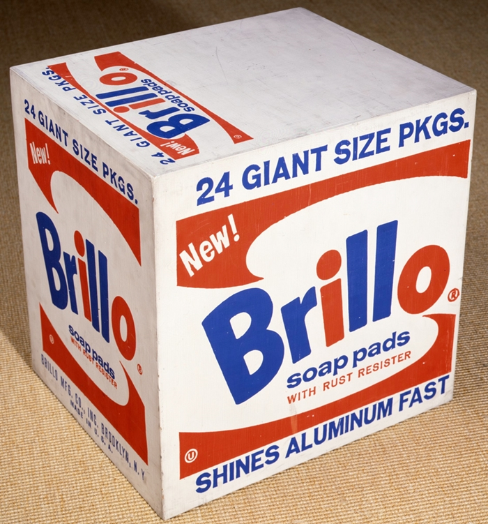 Brillo Soap Pads Box // 1964 // Courtesy The Brant Foundation, Greenwich, CT, USA // © The Andy Warhol Foundation for the Visual Arts Inc. by SIAE 2014
