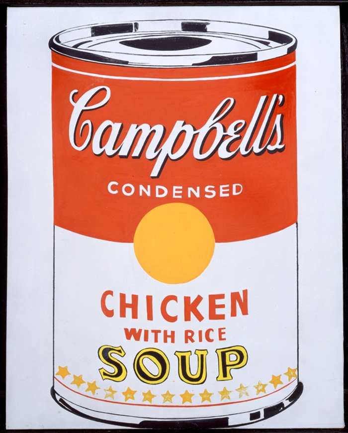 Campbell's Soup Can (Chicken With Rice) // 1962 // Courtesy The Brant Foundation, Greenwich, CT, USA // © The Andy Warhol Foundation for the Visual Arts Inc. by SIAE 2014