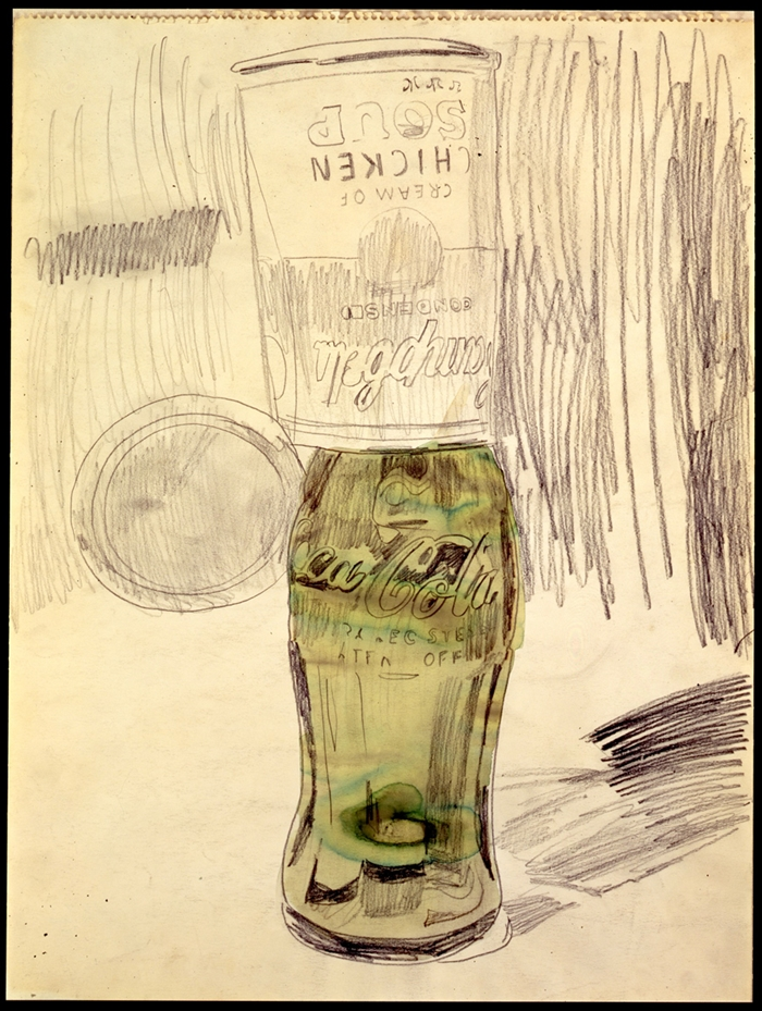 Campbell's Soup Can Over Coke Bottle // 1962 // Courtesy The Brant Foundation, Greenwich, CT, USA // © The Andy Warhol Foundation for the Visual Arts Inc. by SIAE 2014