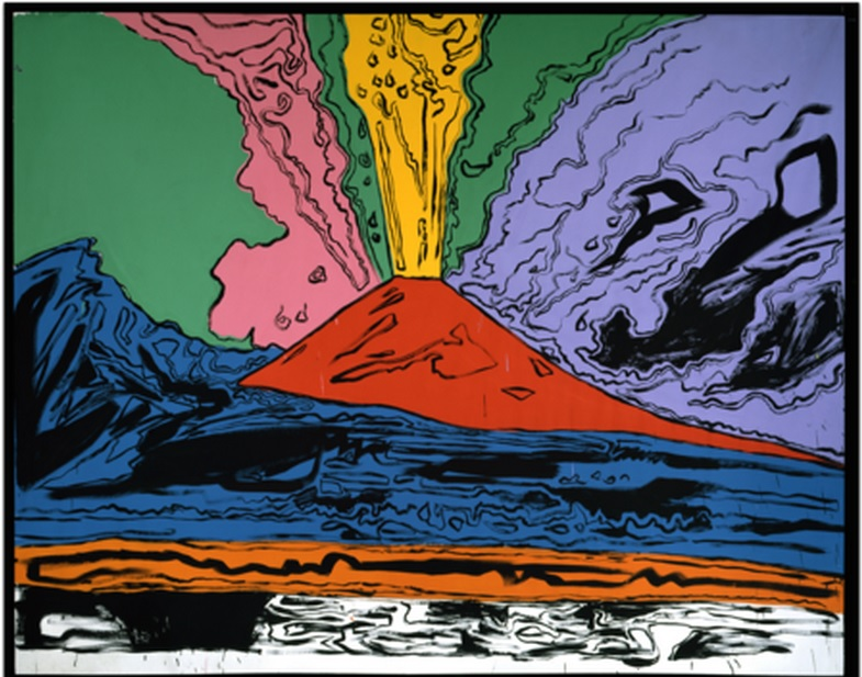 Andy Warhol, Vesuvius 1985 acrilico e inchiostro serigrafico su tela 230 x 300 cm Museo Nazionale di Capodimonte, Napoli ©The Andy Warhol Foundation for the visual Arts inc. by SIAE 2014
