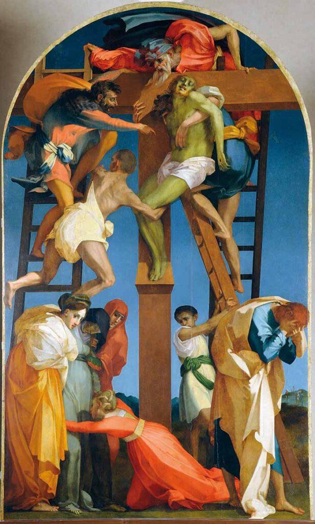 Giambattista di Jacopo detto il Rosso Fiorentino Firenze 1495 – Fontainbleau 1540 Deposizione dalla Croce (1521) olio su tavola centinata, cm 341 x 201 Opera della Cattedrale di Volterra