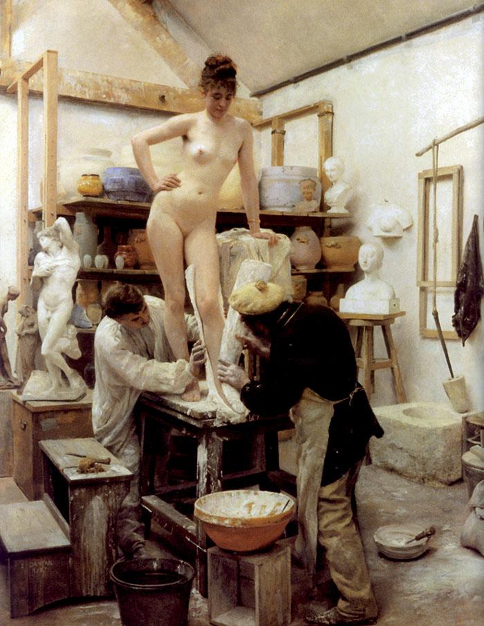 Edouard Dantan, Un calco dal vero, 1887