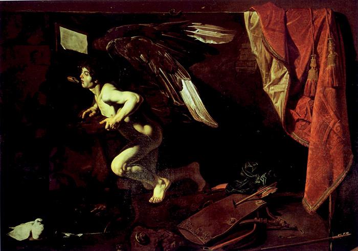 Cecco del Caravaggio, Amore al fonte