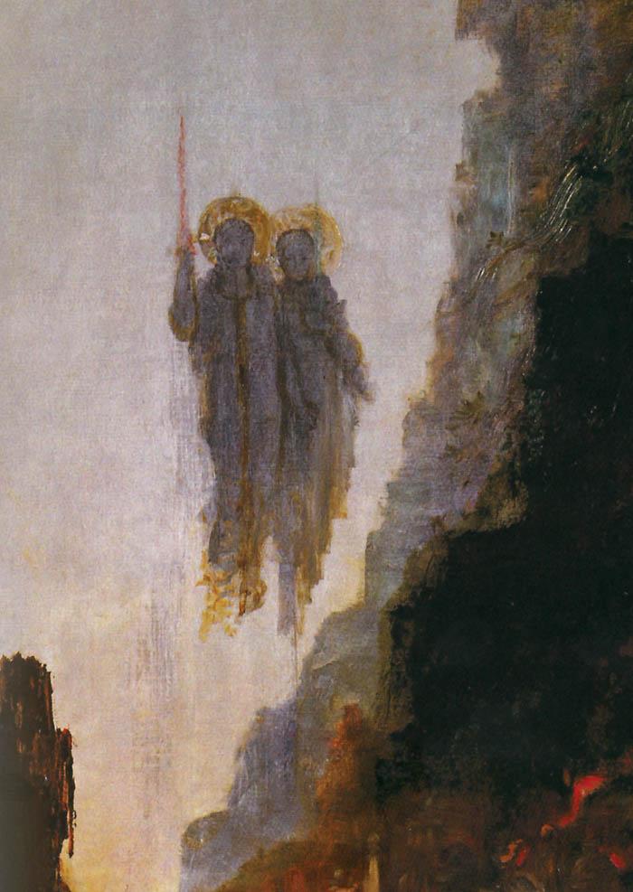 Gustave Moreau, Gli angeli di Sodoma (part.)