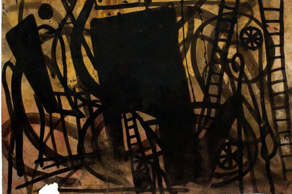 Luca Pignatelli, Il circo di notte, 38.5x56.5 cm, tecnica mista su carta trattata Luca Pignatelli, Senza titolo, 19x24.7 cm, tecnica mista su carta trattata