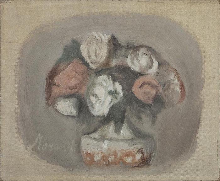 Giorgio Morandi: Fiori, 1956, olio su tela. Collezione Merlini