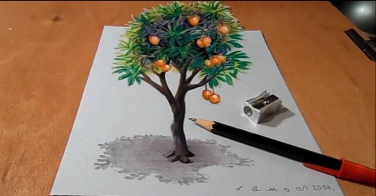 Come Disegnare Un Albero Che Cresce Fino A Uscire Dal Foglio Stile