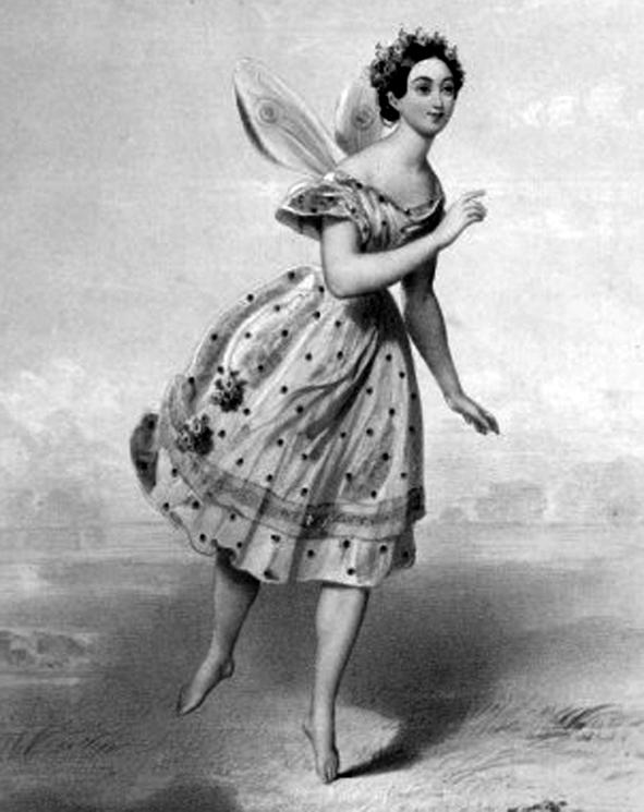 La danzatrice Maria Taglioni (1804-1884) in un'illustrazione dell'epoca