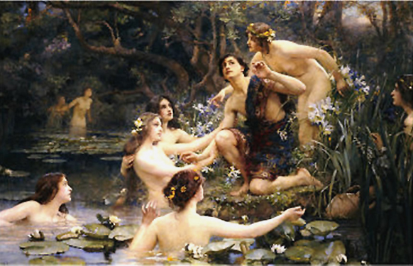 Henrietta Rae, Hylas and the water nymphs, 1910