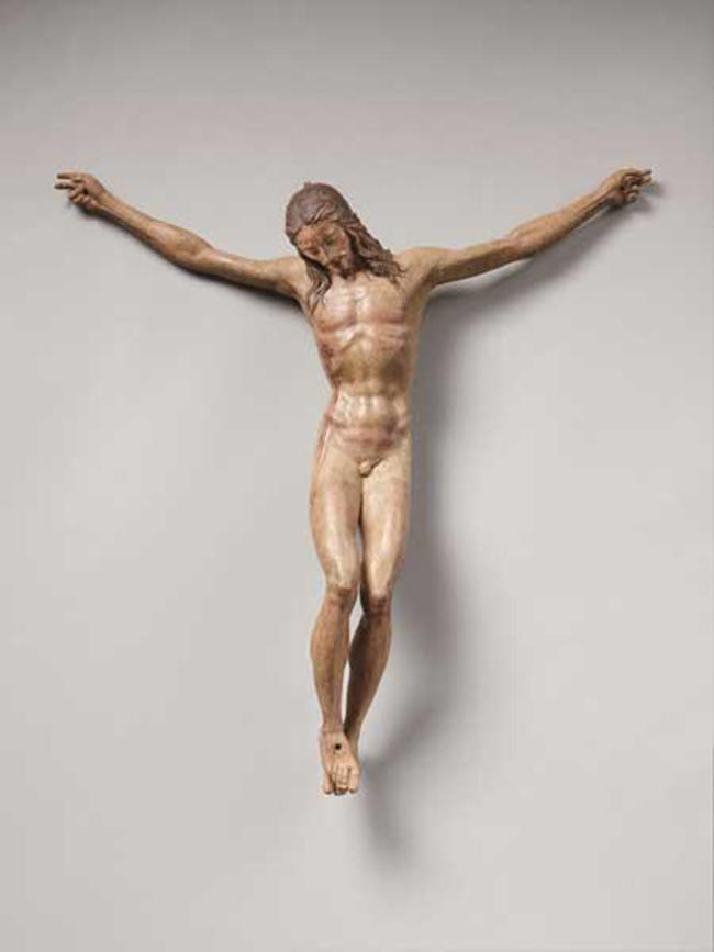 """""""Sez. III - Vita e morte"""" Scultore fiorentino, Michelangelo (?) (attivo nell'ultimo decennio del XV secolo): Crocifisso, 1495 circa"""