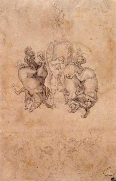 """""""Sez.VII - Amore celeste, amore terreno"""" Michelangelo: La caduta di Fetonte, 1534 circa"""