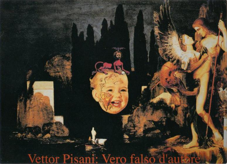 Vettor Pisani, vero falso d'autore, 2002 collage digitale su tela cm 120x160