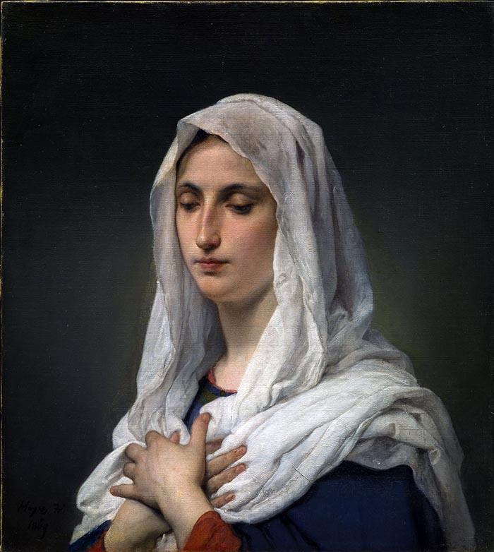 Francesco HAYEZ , Orante, 1869, Olio su tela, 61,5x55,3 cm
