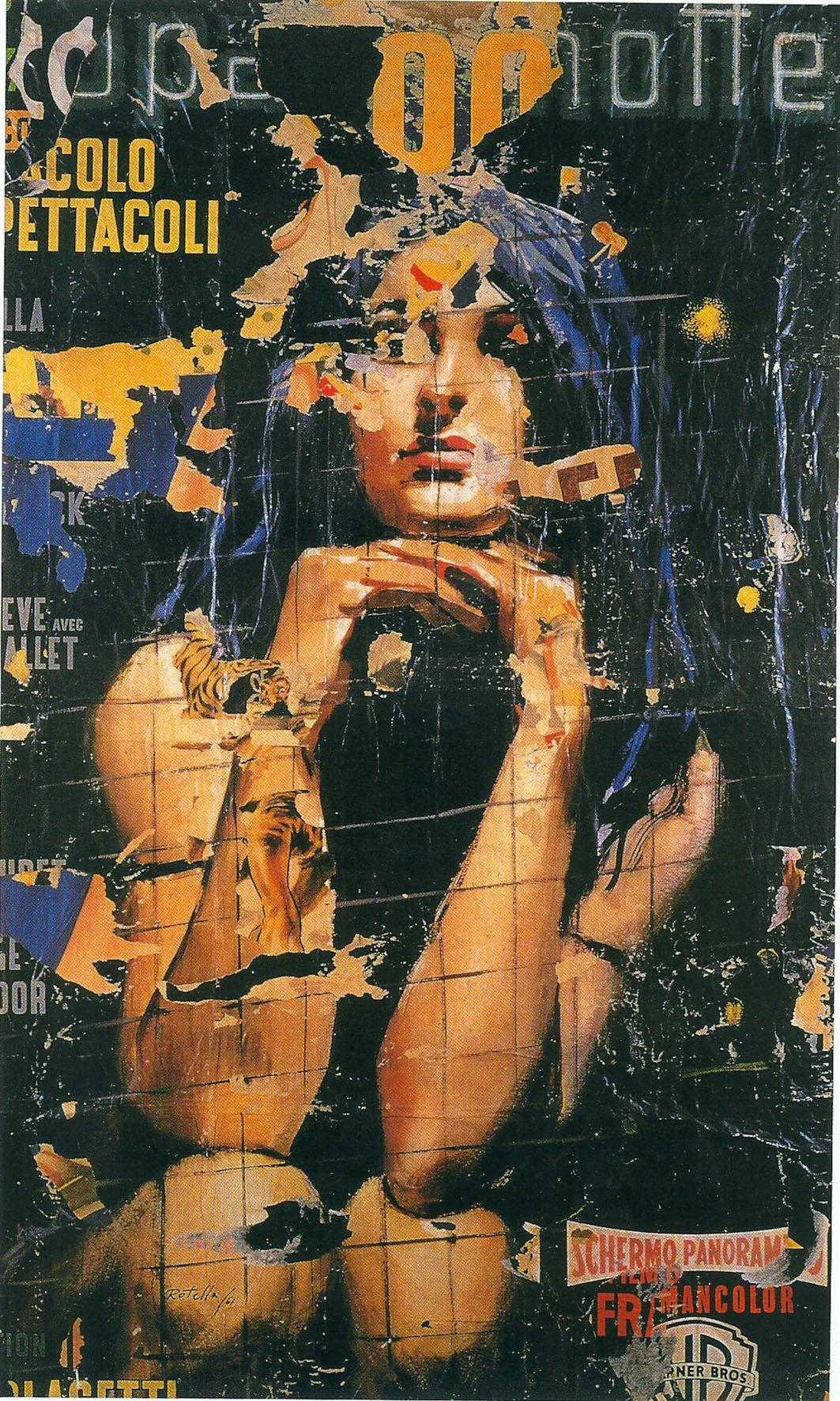 Mimmo Rotella, Europa di notte, 1961, décollage su tela, cm 182x108, Wien, Museum moderner kunst stiftung Ludwig Wien