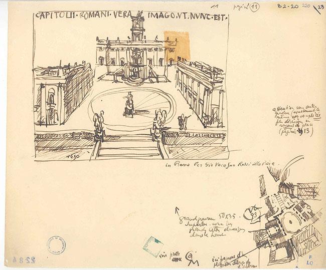 """Le Corbusier, Disegni di studio da Michelangelo, dal """"Carnet del viaggio in Oriente"""" (facsimili), 1907-1911, Parigi, Fondation Le Corbusier"""