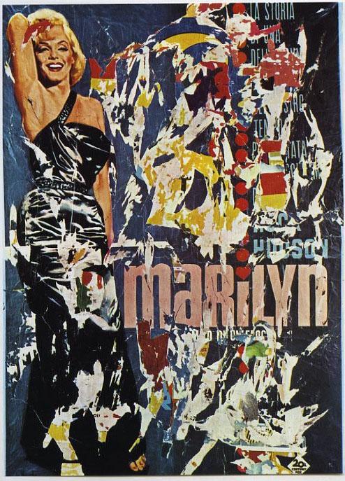 Mimmo Rotella, Marilyn, 1963, décollage su tela, cm 188x134, collezione privata.