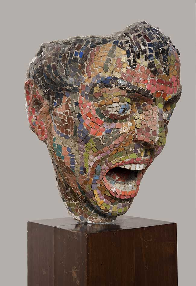 Mirko Basaldella Furore, 1944 mosaico veneziano, h 26 cm.  Roma, Collezione G. Bertolami – in comodato presso Il Museo della Scuola Romana  Foto: Antonio Idini