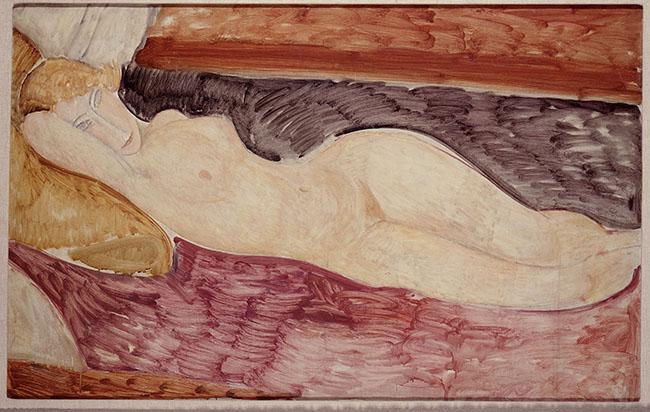 Amedeo Modigliani  Livorno 1884-Parigi 1920  Nudo sdraiato, 1918-1919  olio su tela, cm 76x116  1962, acquisto alla Marlborough Gallery