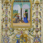 Libro d'Ore di Lorenzo de' Medici, Annunciazione, Firenze, Biblioteca Medicea Laurenziana, Ms. Ashb. 1874, c. 13v