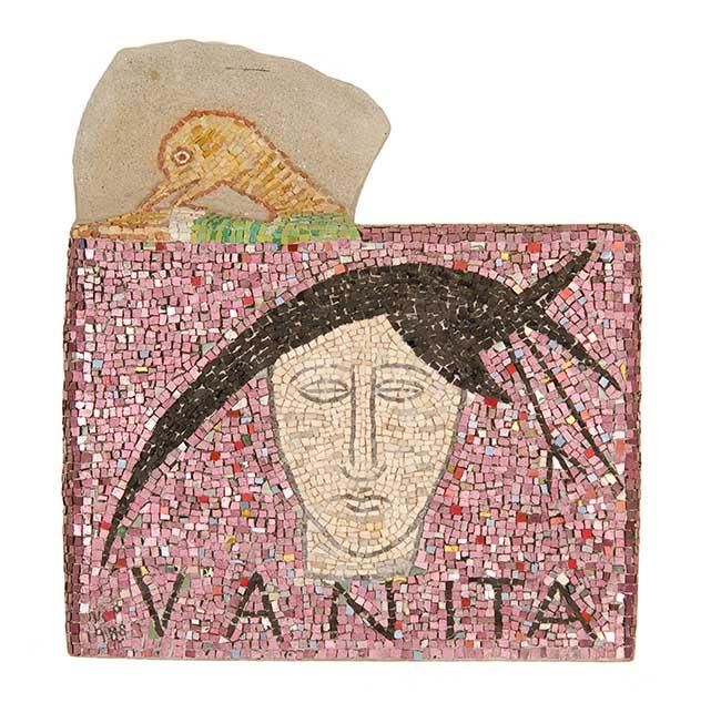 Mimmo Paladino Vanità, 1988 mosaico, h 48 x 43 x 8,5 cm.  Inv. N. A. 0117 Ravenna, Museo d'Arte della Città Foto: Giorgio Liverani