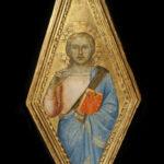 Bernardo Daddi, Cristo Benedicente, dal polittico per l'altare maggiore della Cattedrale di Firenze, collezione Pittas (© A.C. COOPER)