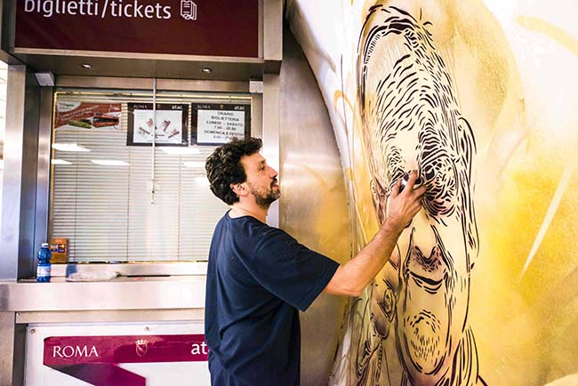 C215-Metro Spagna work in progress@Francesco Fioramonti