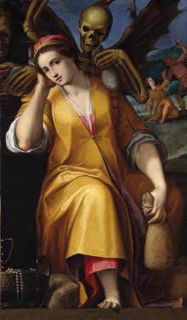 Jacopo Ligozzi Allegoria dell'Avarizia 1590 olio su tela New York, The Metropolitan Museum of Art