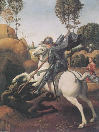 Raffaello, San Giorgio, 1505.06, cm 28,5 x 21,5 ,Washington