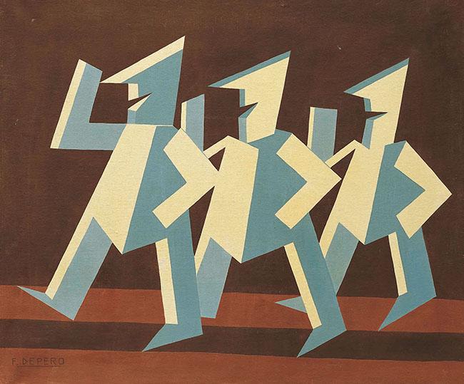 Fortunato Depero, Pagliaccetti, 1927
