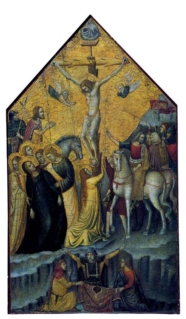 Giovanni Baronzio, pannello con scene della Passione, Crocifissione