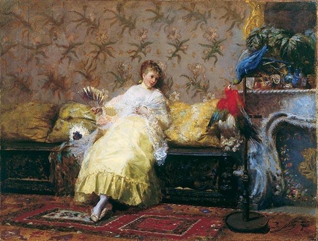 Giuseppe de Nittis, Signora dei pappagalli
