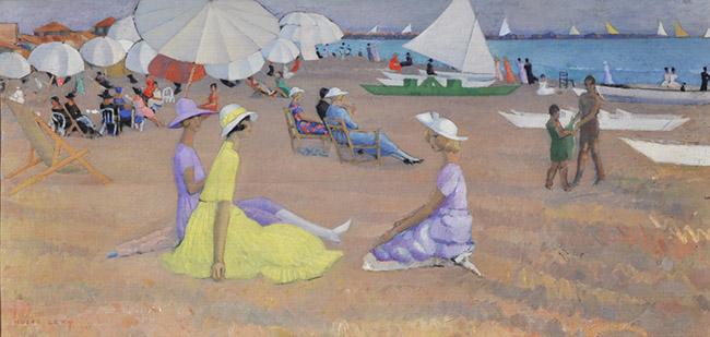 Moses Levy: Spiaggia e figure a Viareggio, 1921