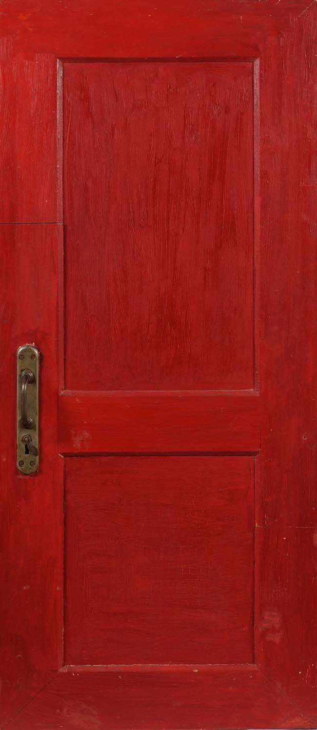 Mikhail roginsky oltre la porta rossa stile arte - Maniglia della porta ...