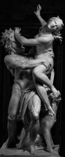 G.L. BERNINI, Ratto di Proserpina,1612-22, marmo, h. 255 cm, Roma, Galleria Borghese