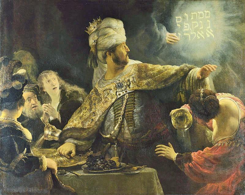 Rembrandt, Il Festino di Baldassarre, 1636, olio su tela, 167,6x209,2 cm