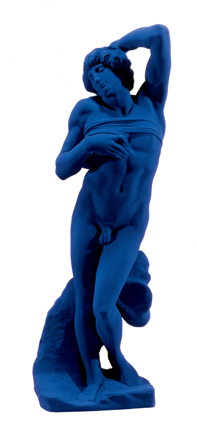 Yves Klein, L'Esclave d'après Michel-Ange, (S 20), 1962 Dry pigment and synthetic resin on plaster, 60 x 22 x 15 cm © Yves Klein / ADAGP, Paris, 2014