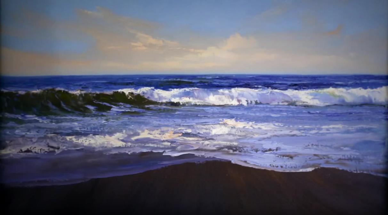Come dipingere le onde video tutorial stile arte for Quadri facili da dipingere