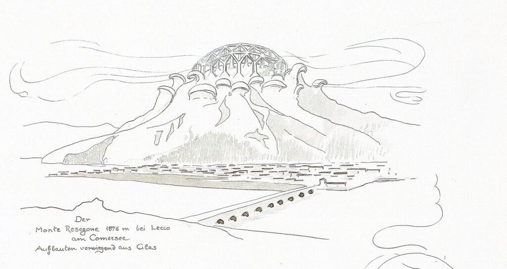 Bruno Taut, Architettura Alpina, Cattedrale di cristallo sul Monte Resegone, 1919