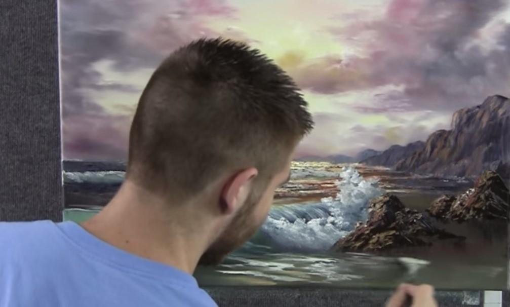 Come Dipingere Il Mare Lalba Le Onde La Schiuma La Sabbia