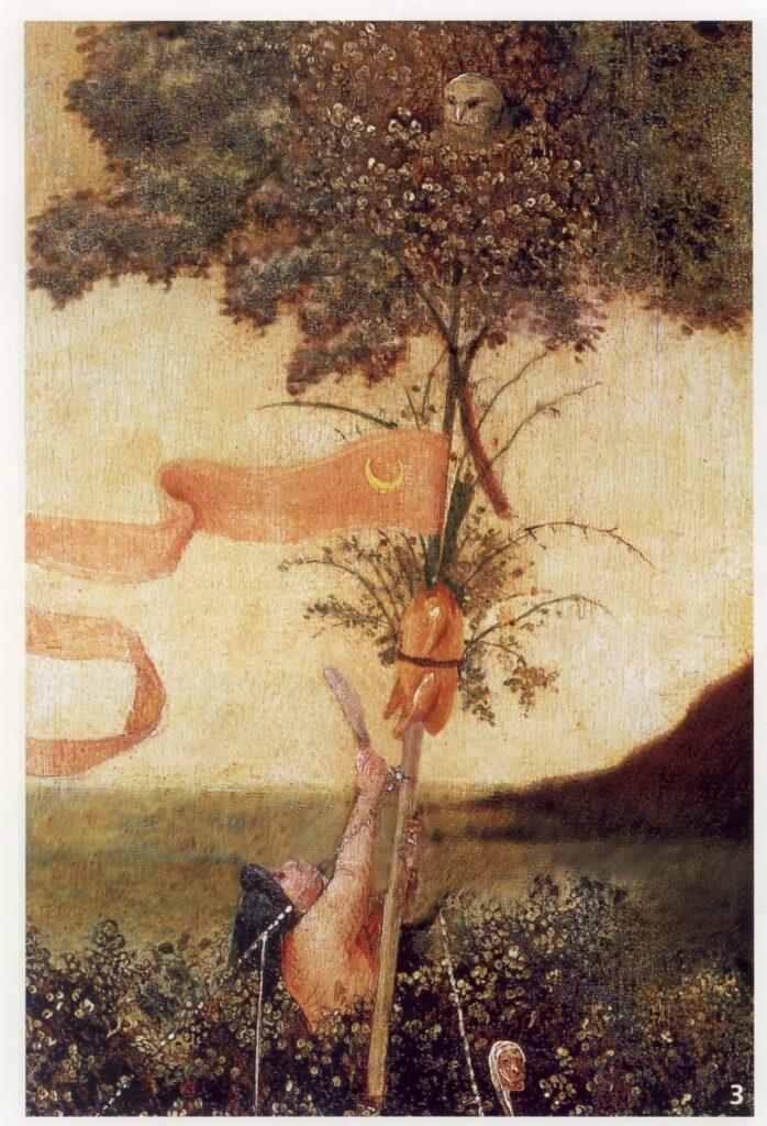 Hieronymus Bosch, La Nave dei folli, (particolare) ,1494, olio su tavola, 57,9x32,6 cm, Parigi, Museo del Louvre