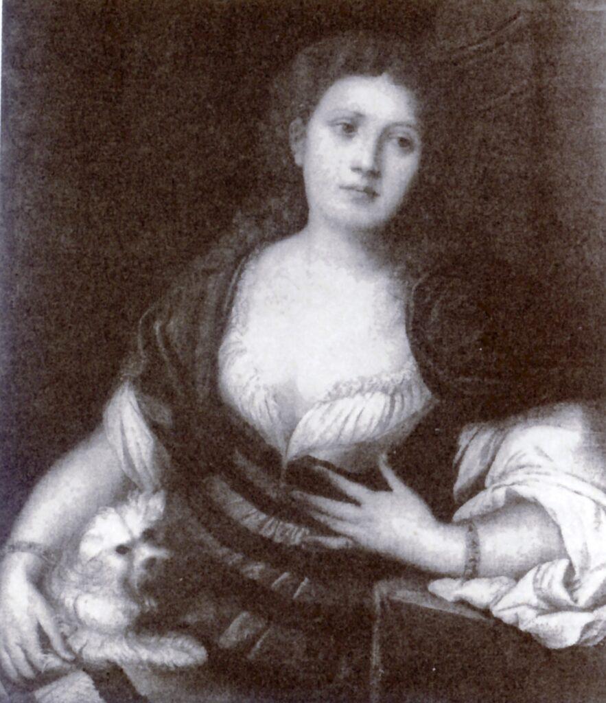 Bonifacio Veronese, Ritratto di dama con un cane