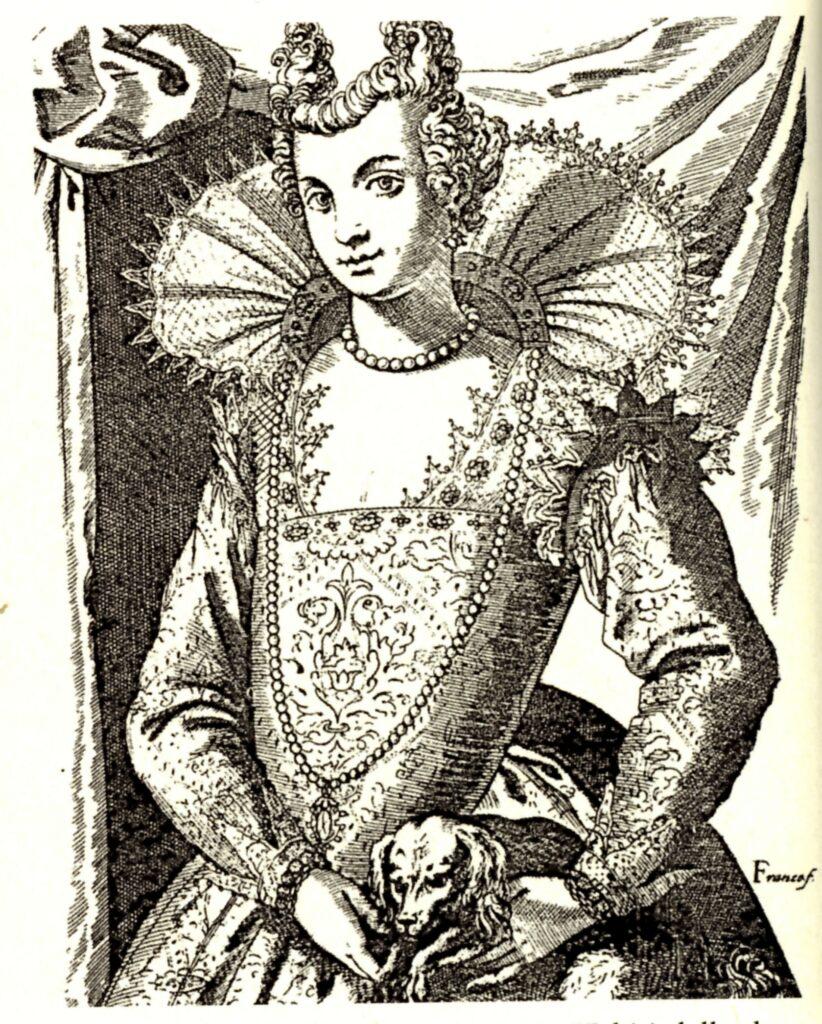 Giacomo Franco, Cortigiana famosa, in 'Habiti delle donne venetiane'