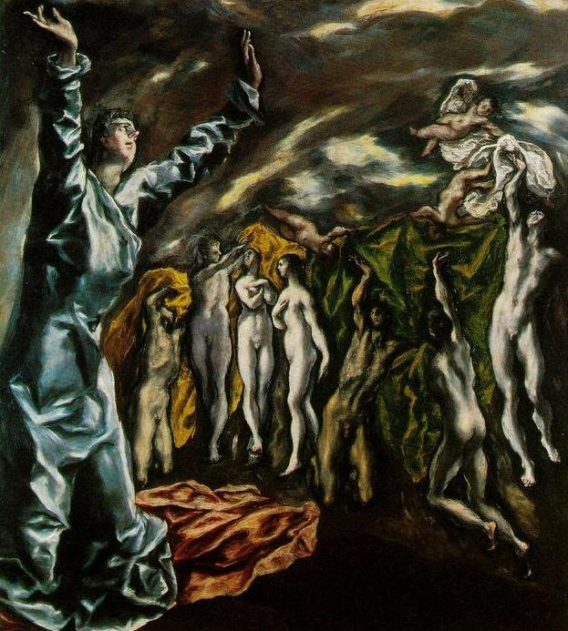 El Greco, L'apertura del quinto sigillo dell'Apocalisse  c. 1608-1614