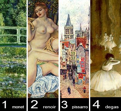 Vota il tuo impressionista preferito