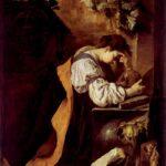 Domenico Fetti, La malinconia, 1620 circa. Ben visibile, dietro il cane, la sfera della fortuna, lasciata a se stessa